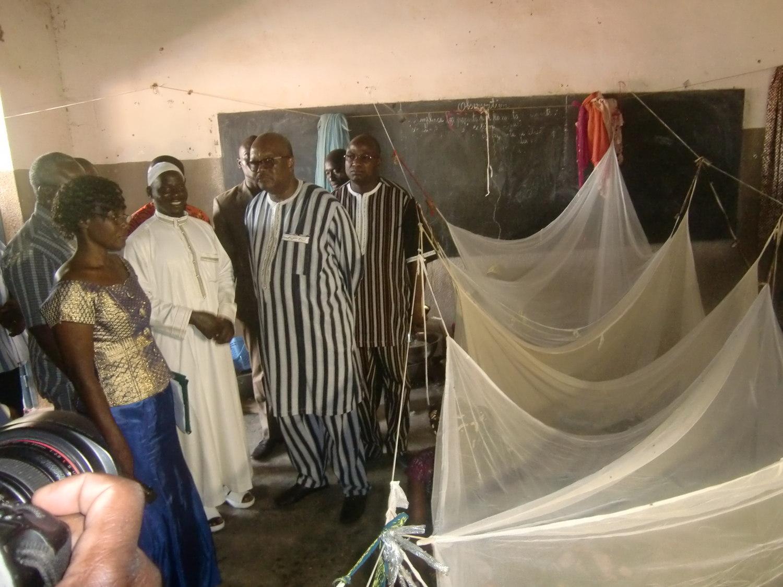 le président du Faso visite les sinistrés