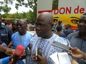 Le ministre de la Santé Smaïla Ouédraogo, a loué cette action de la LONAB