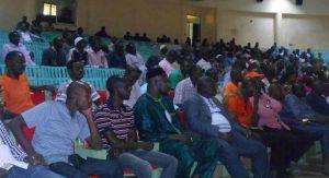 Les militants du MPP à la conférence