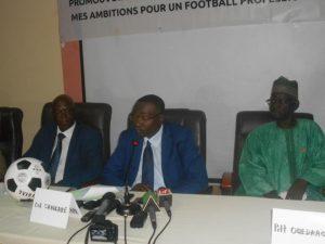 Le colonel Sita Sangaré, président sortant de la FBF au milieu