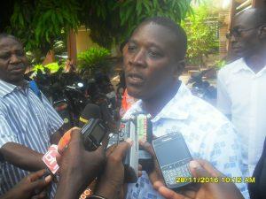 Aristide Zongo,président de l'association des hémophiles