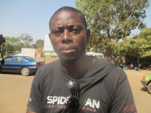 Achille Tiendrebéogo, un malade qui a été reçu par un docteur