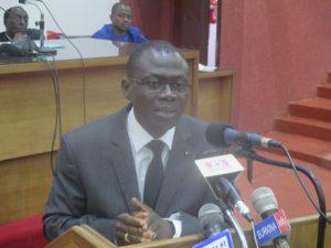 René Bessolé Bagoro, ministre de la justice, des droits humains et de la promotion civique