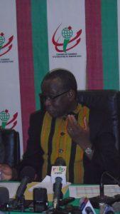 Le président de la commission d'organisation des élections consulaires, Bernard Zougouri