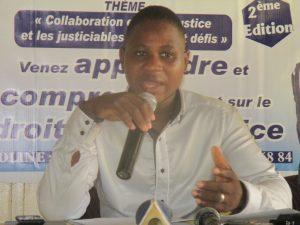 Dieudonné Lankoandé, promoteur du salon et directeur de publication du journal Le chemin du Droit
