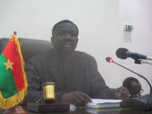 Bénéwendé Stanislas Sankara a présidé la séance plénière