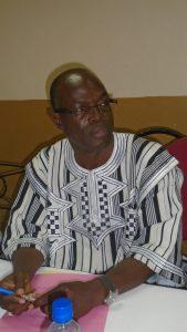Le représentant du ministre de la Santé, Pr Dieu-Donné Ouédraogo