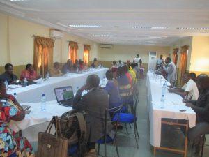 Les participants à l'atelier de capitalisation de bonnes pratiques en matière de SSR