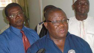 Le représentant du président de la CSI-Burkina, Guy Olivier Ouédraogo