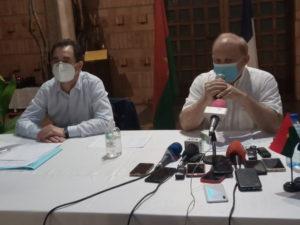 Le directeur du CDCS et l'ambassadeur de la France au Burkina